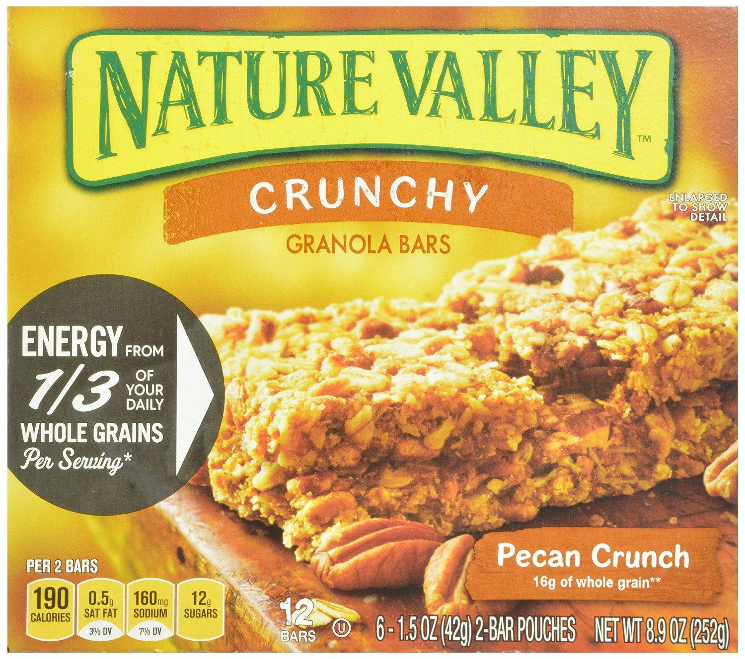 $7.58 Nature Valley Crunchy Granola Bars, Pecan Crunch, 12-Count Boxes 1.5 Oz Bars (Pack of 12)