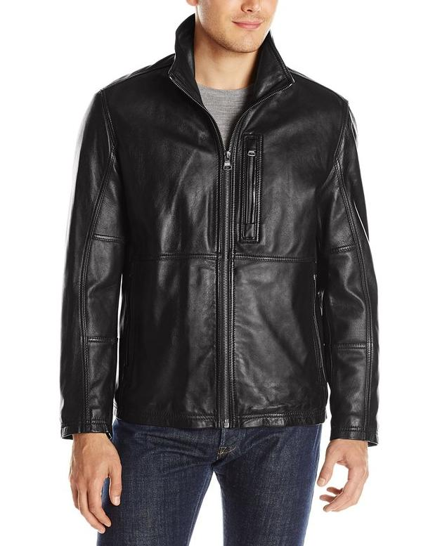 Marc New York by Andrew Marc Men's Mercer Smooth Lamb Leather Jacket @ Amazon