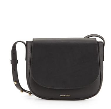 $495 Mansur Gavriel	 Vegetable-Tanned Leather Crossbody Bag @ Bergdorf Goodman