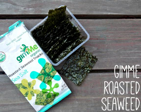 $6.52 GimMe Health Foods Organic Roasted Seaweed Snacks, Sea Salt, 0.17 Ounce (Pack of 12) @ Amazon