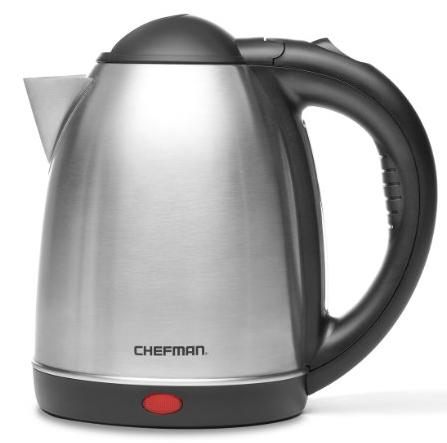 Chefman, Cordless Electric Kettle 1.7-Liter, Stainless-Steel @ Amazon