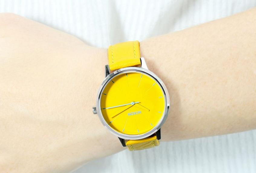 NIXON Nixon Women's Kensington Stainless Steel Watch with Leather Band