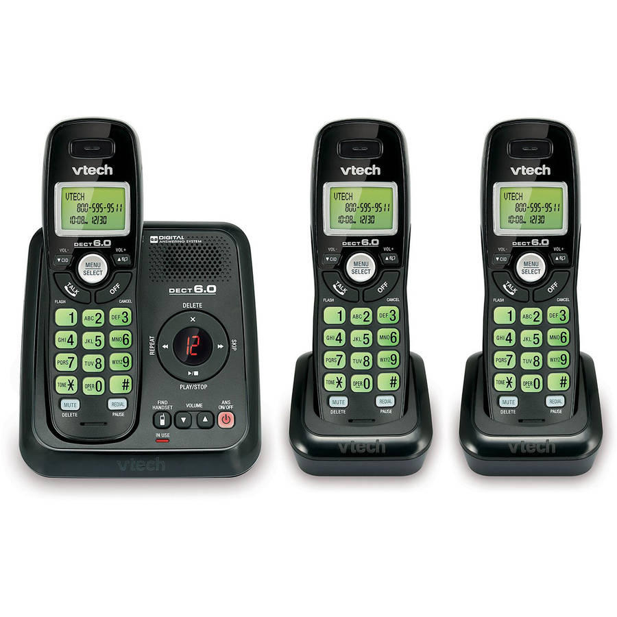 $28.24 VTech CS6120-31 3 Handset Cordless Answering System with Caller ID/Call Waiting