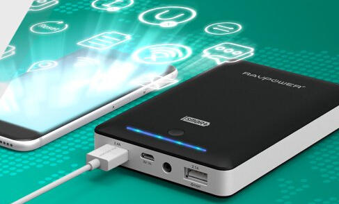 RAVPower 16750mAh Portable Charger Most Powerful 4.5A Output External Battery with iSmart Technology
