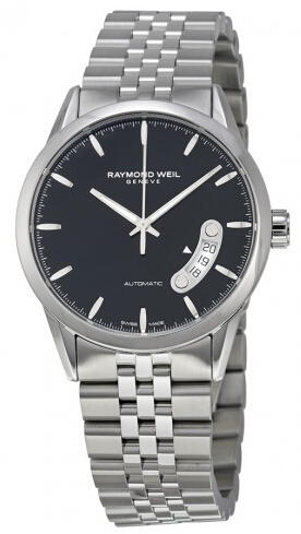 Raymond Weil Freelancer Automatic Black Dial Stainless Steel Men's Watch RW 2770-ST-20011