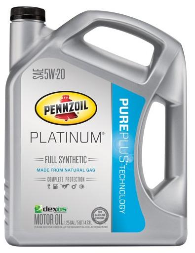 Pennzoil Platinum 5W-20 Full Synthetic Motor Oil API GF-5 - 5 Quart