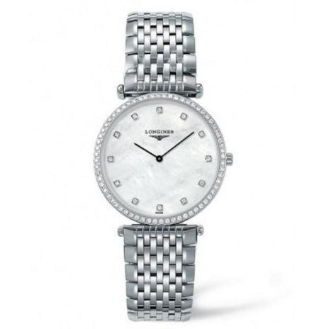 LONGINES La Grande Classique Diamond Mother of Pearl Dial Stainless Steel Ladies Watch