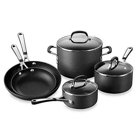 $89.99 Calphalon Hard-Anodized Nonstick 8-Piece Cookware Set