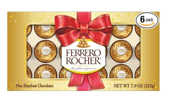 $13.81 Ferrero Rocher Holiday Candy, 7.9 Ounce (Pack of 6) @ Amazon