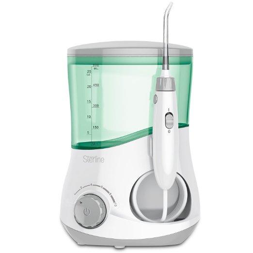 $29.99 Sterline Counter Top Water Flosser with Six Interchangeable Nozzles