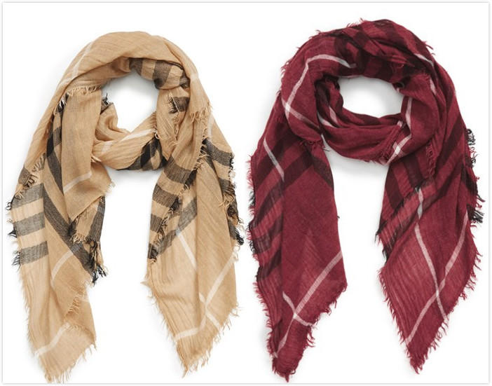 9.98 BP. Plaid Oblong Scarf On Sale @ Nordstrom