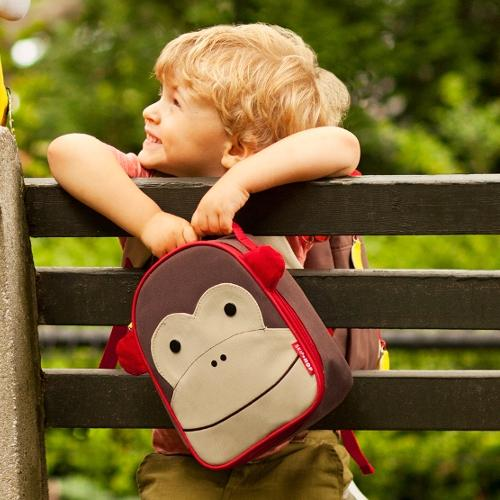 Skip Hop Zoo Lunchie Insulated Lunch Bag, Monkey