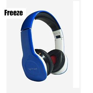 Freeze X-treme I-kool Freeze series Headphone with Bass Boost, Fully fold-able for easy travel, Detached Aux cable included (Blue)
