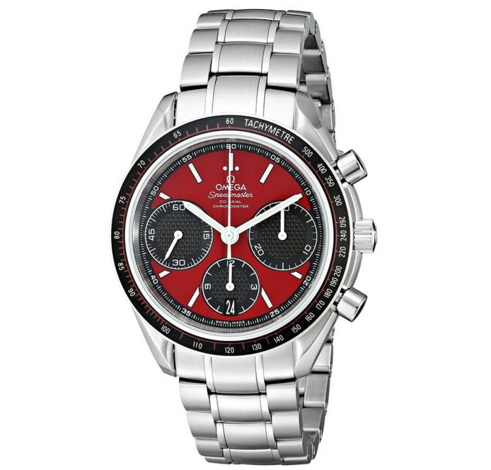 $2895 Omega Men's Speed Master Racing Swiss Automatic Silver Watch
