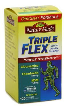 $16.09 Nature Made Triple Flex, Glucosamine 1500 mg, Chondroitin 800 mg, MSM 750 mg, 120-Caplets