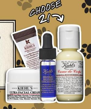 Free 2 Deluxe Samples With Any Hair, Body, or Pet Care purchase @ Kiehl's