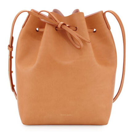 $595 Mansur Gavriel	 Vegetable-Tanned Leather Bucket Bag @ Bergdorf Goodman