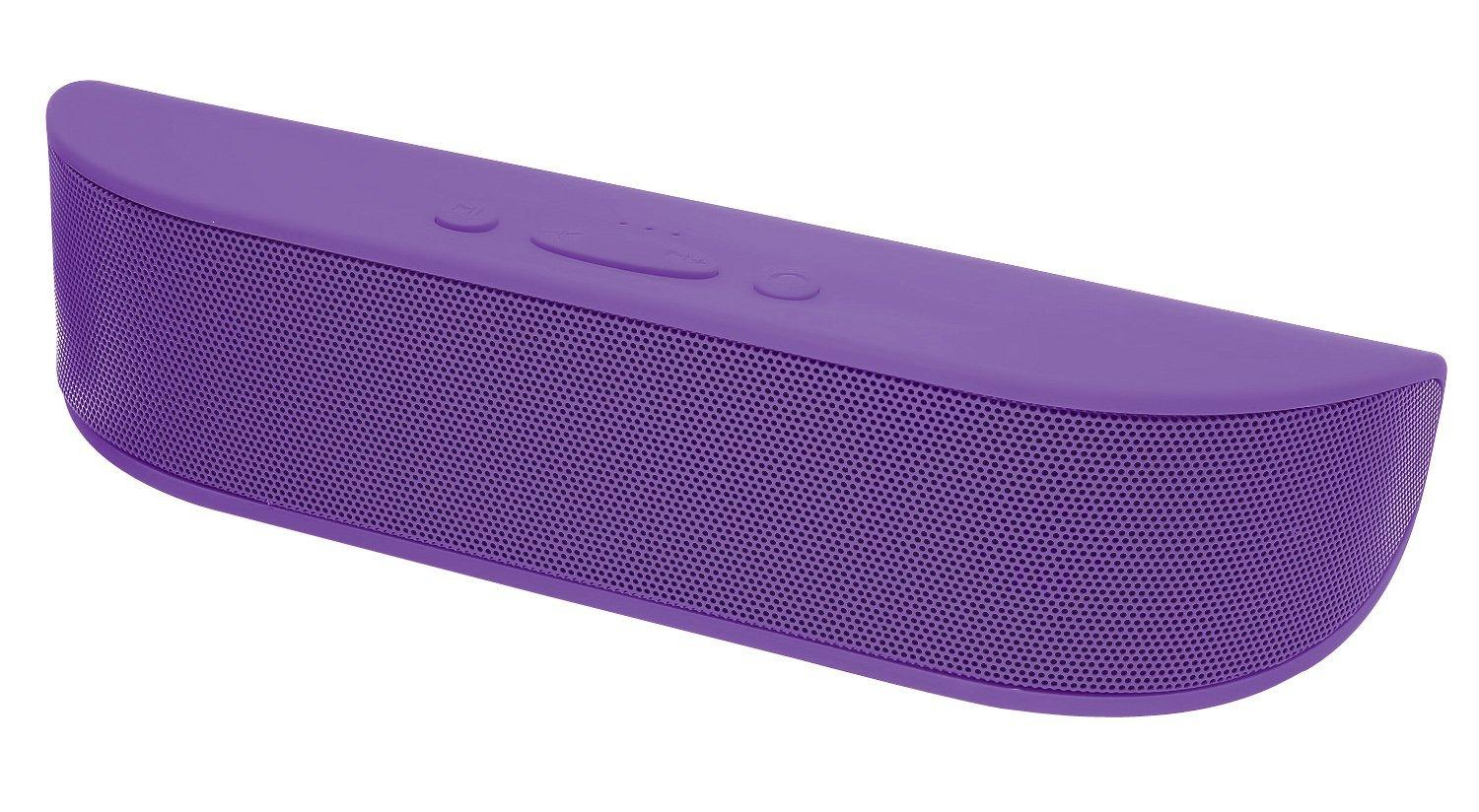 Aduro BeeBop Portable Wireless 10W Bluetooth Speaker with Built-in Speakerphone (Purple)