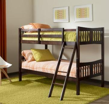 Stork Craft Caribou Bunk Bed @ Amazon