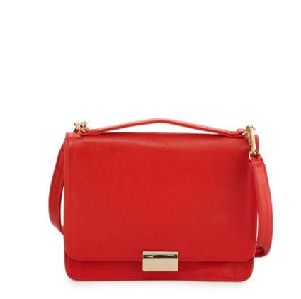 Lauren Merkin Taylor Leather Crossbody Bag, Fire @ Neiman Marcus
