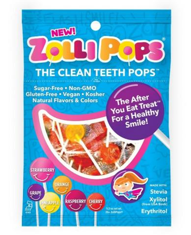 $5.49 Zollipops Clean Teeth Pops, Anti Cavity Lollipops, Variety Pack, 25 Count @ Amazon