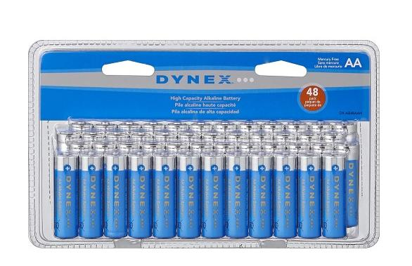 48-Pack Dynex High-Capacity Alkaline Batterie