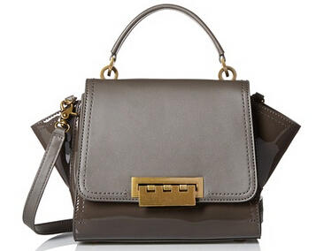 ZAC Zac Posen Monochromatic Eartha Mini Top Handle Crossbody, Charcoal