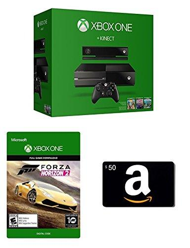 $399.0 Xbox One 500GB Console with Kinect + Amazon.com $50 Gift Card + Forza Horizon 2