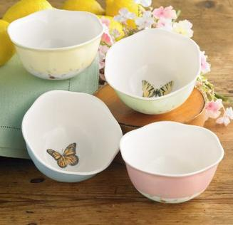 $25.76 Lenox Butterfly Meadow 8-Ounce Dessert Bowls Set of 4