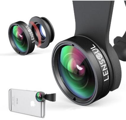 Lensoul 3 in 1 Clip-on Cell Phone Camera Lens Kit