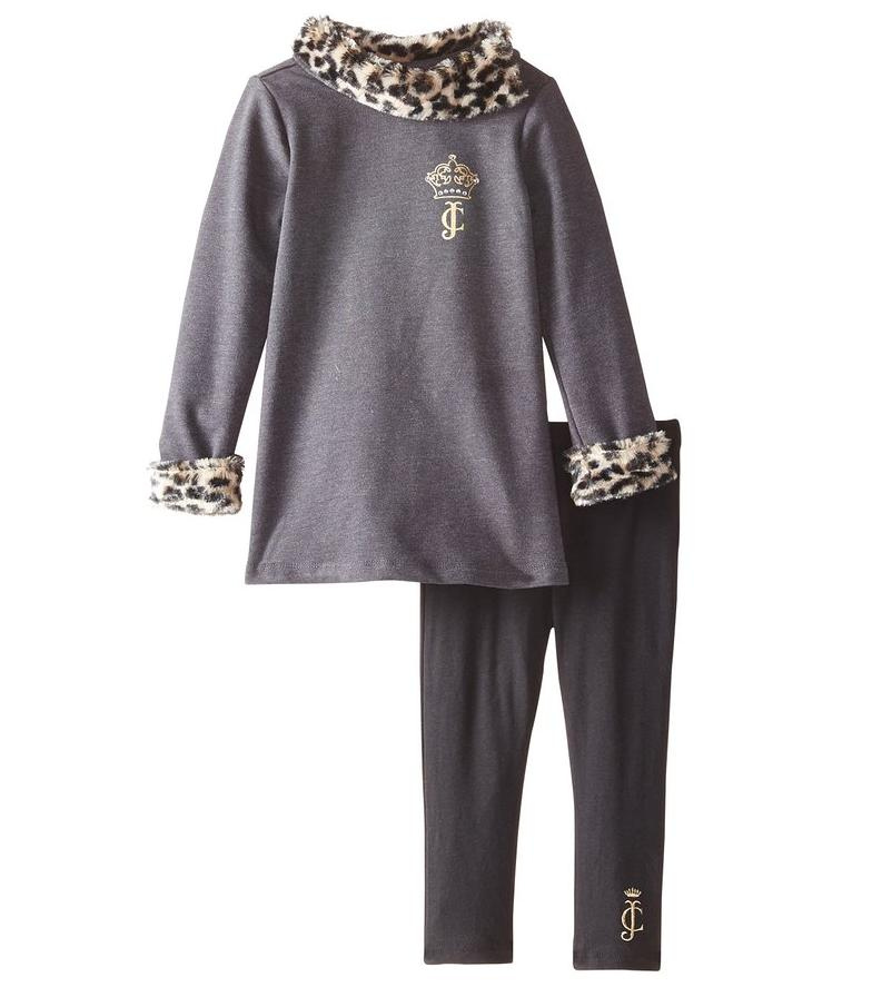 Juicy Couture Little Girls' Gray Leopard Tunic and Leggings