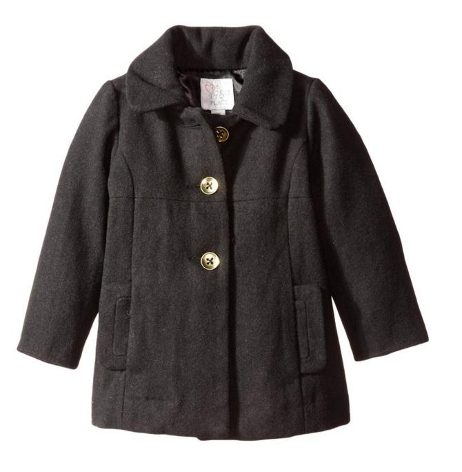 The Children's Place Little Girls' Dressy Bow-Back Wool Coat
