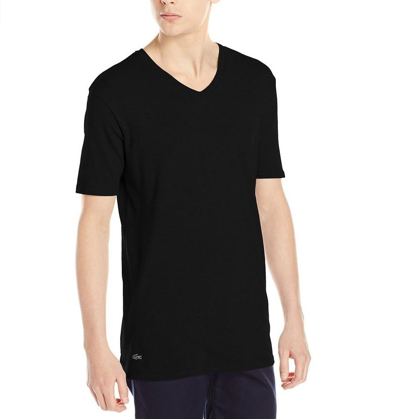 Lacoste Men's Cotton Modal V-Neck Short Sleeve Sleep T-Shirt