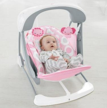 Fisher-Price Deluxe Take Along Swing and Seat, Pink/White @ Amazon