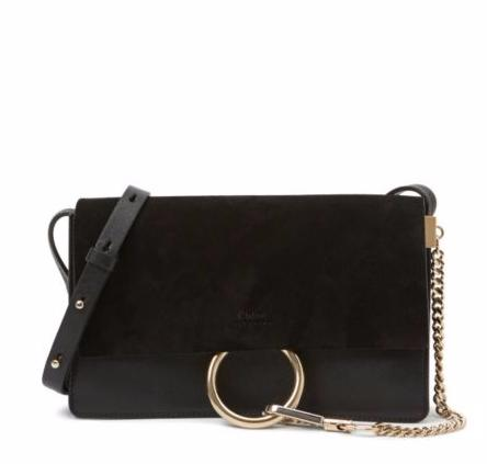 Chloé Faye Small Suede & Calfskin Clutch @ Saks Fifth Avenue