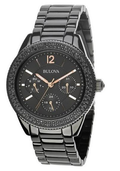 Bulova Women's Crystal Collection Chronograph Watch 98N105