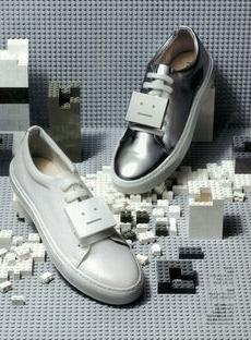 Acne Studios Adrianna Metallic Leather Emoticon Sneakers  @ Saks Fifth Avenue