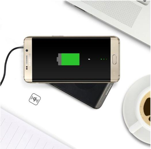 KMASHI Fast Wireless Charger with Quick Charger 2.0