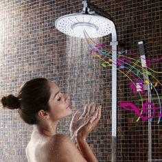 #1 Best seller! H2oVibe Rain Showerhead Jet with Wireless Bluetooth Speaker