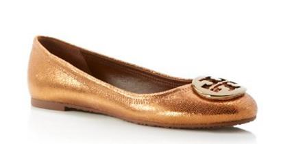 Tory Burch Sequin-Embossed Reva Ballet Flats