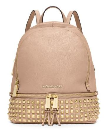 MICHAEL Michael Kors Rhea Small Studded Leather Backpack