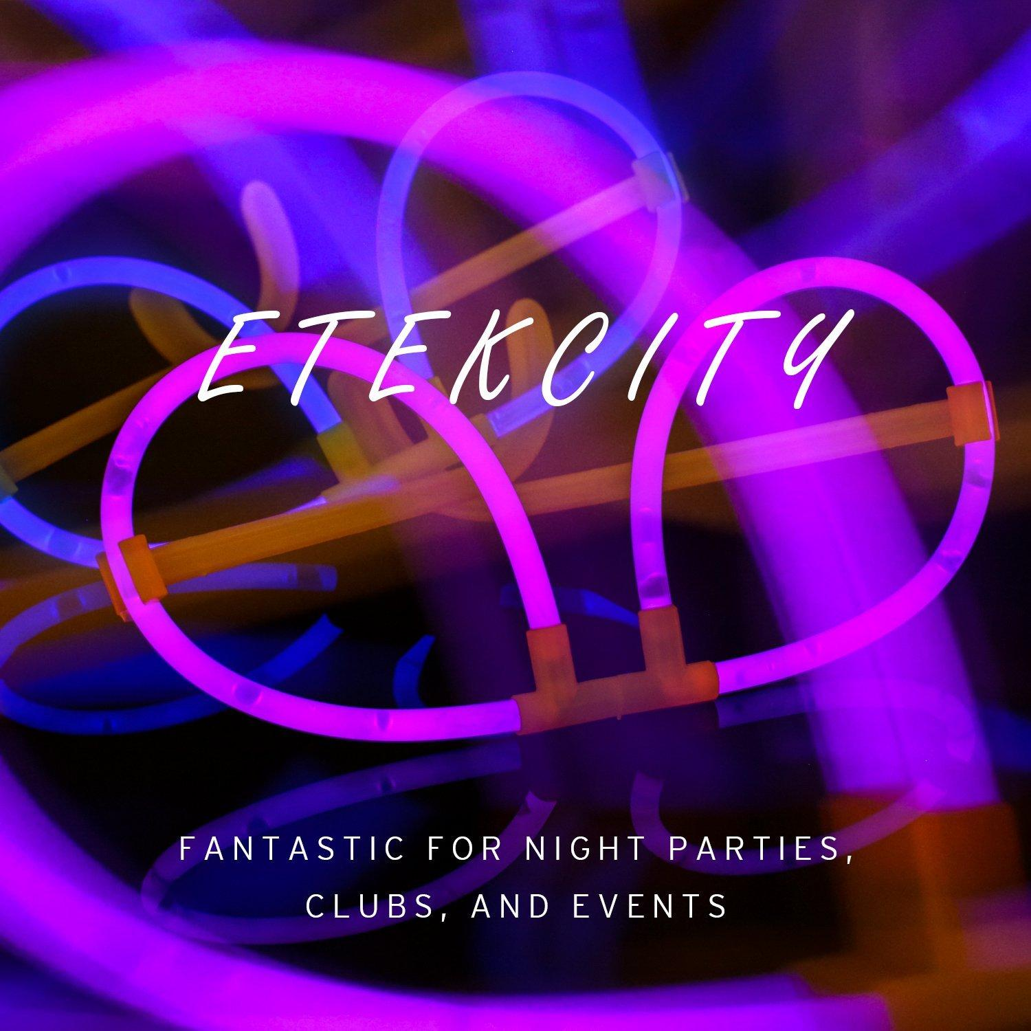 Etekcity 50 Glow Sticks Glasses / Eyeglasses Party Favors Supplies (Assorted Colors)