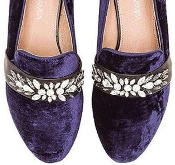 $99.99 Yosi Samra Pippa Luxe Velvet Slipper with Rhinestone Embellishment On Sale @  6PM.com