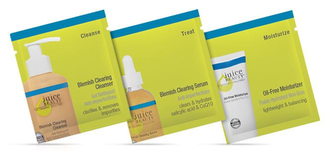3 Free Blemish Clearing Oil Control Skincare Samples @ Juice Beauty