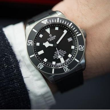 Tudor Pelagos Black Dial Titanium Men's Watch 25600TN