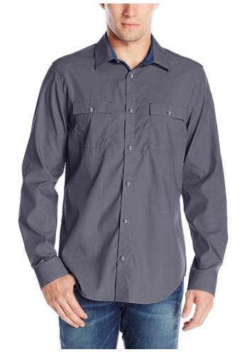 Calvin Klein Men's Liquid Cotton Woven Shirt