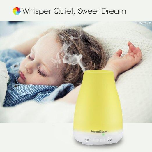 InnoGear® 100ml Aromatherapy Essential Oil Diffuser Portable Ultrasonic Cool Mist Aroma Humidifier