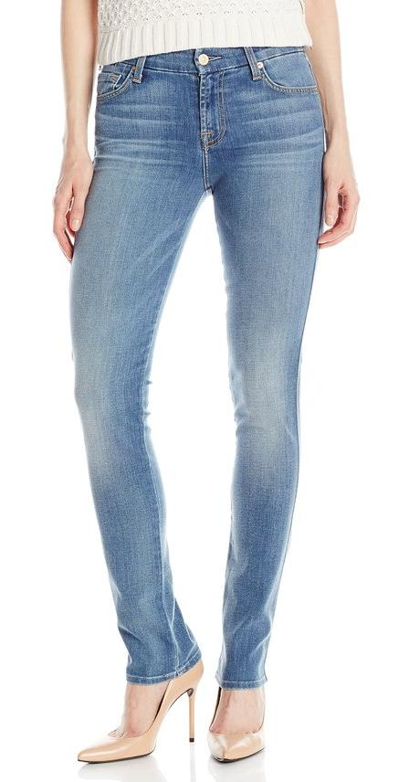 7 For All Mankind Women's Straight Leg Jean In Olivia Authentic Light