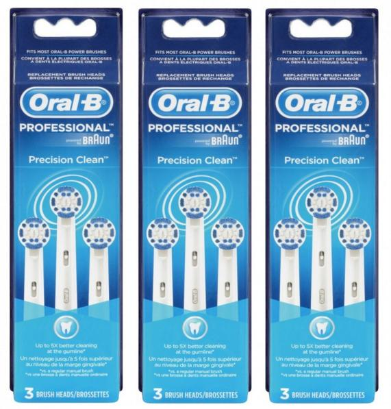Oral-B by Braun Professional Precision Clean Replacement Electric Toothbrush Heads 9 ct