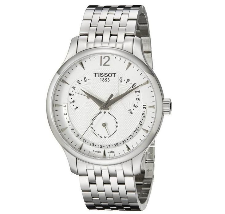 Tissot Men's Tradition Analog Display Swiss Quartz Silver Watch
